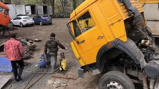 КАМАЗ ЗЕРНОВОЗ. Продолжаем работы по прицепу и ремонту машин!