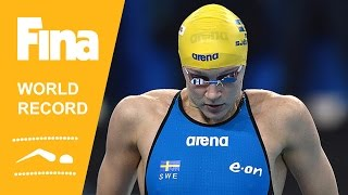 Sarah Sjöström | World Record 200m Freestyle | 2014 FINA World Swimming Championships Doha