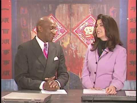 UCS-TV anchors Baruti and Zoe