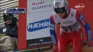 Neuer Weltrekord in Skispringen 15.02.15 in Vikersund - Anders Fanenemel 251,5m!!!!!!
