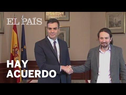 #10N | #SÁNCHEZ E #IGLESIAS: #ACUERDO De GOBIERNO De COALICIÓN PSOE Y Podemos
