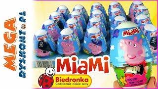 Świnka Peppa  Jogurty MIAMI  Biedronka