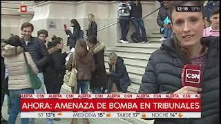Amenaza de bomba en Tribunales