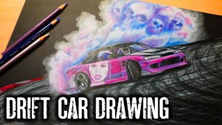 Drawing A Drift Car