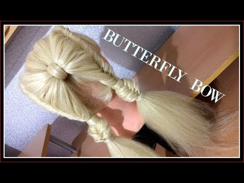 BUTTERFLY BOW HAIRSTYLE  / HairGlamour Styles /  Hair Tutorials thumbnail