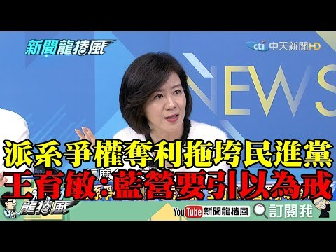 【精彩】派系爭權奪利拖垮民進黨! 王育敏:藍營要引以為戒
