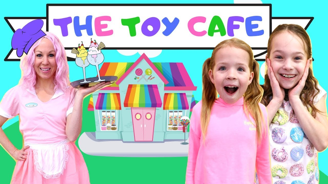 Addy and Maya Visit the New Toy Cafe - YouTube