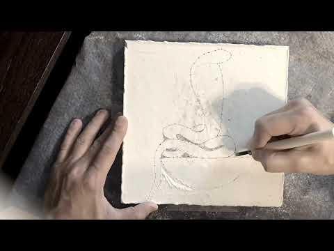 Carving the Wadjet Egyptian Hieroglyph - Ancient Egyptian Art Recreation