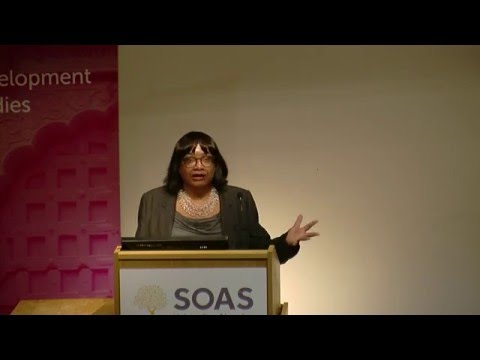 Dianne Abbot, Why overseas development has to move from charity to empowerment, SOAS