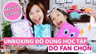 Unboxing Đồ Dùng Học Tập Do Fan Chọn [BACK TO SCHOOL]🎒- SONG THƯ CHANNEL