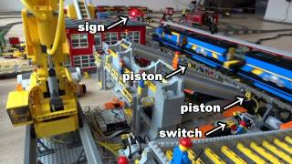 Lego train coal terminal - how it works 2: unload procedure