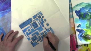 Stenciling On Deli Paper To Make A Blueprint