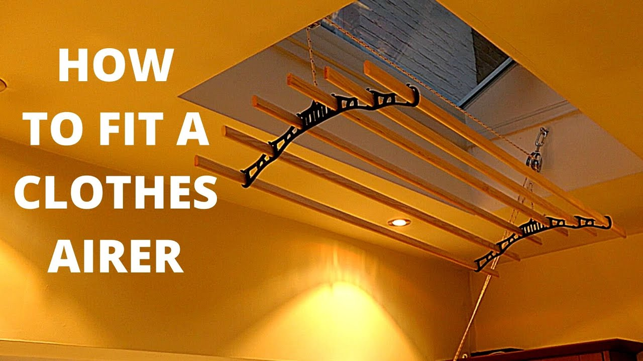 HOW TO INSTALL AN OVERHEAD CLOTHES AIRER