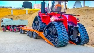 RC Truck heavy transport! Tractor stuck!