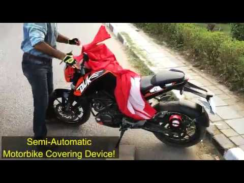 BIKE BLAZER - World's First SEMI AUTOMATIC Motorcycle Covering DEVICE Indian Innovations PATENTED