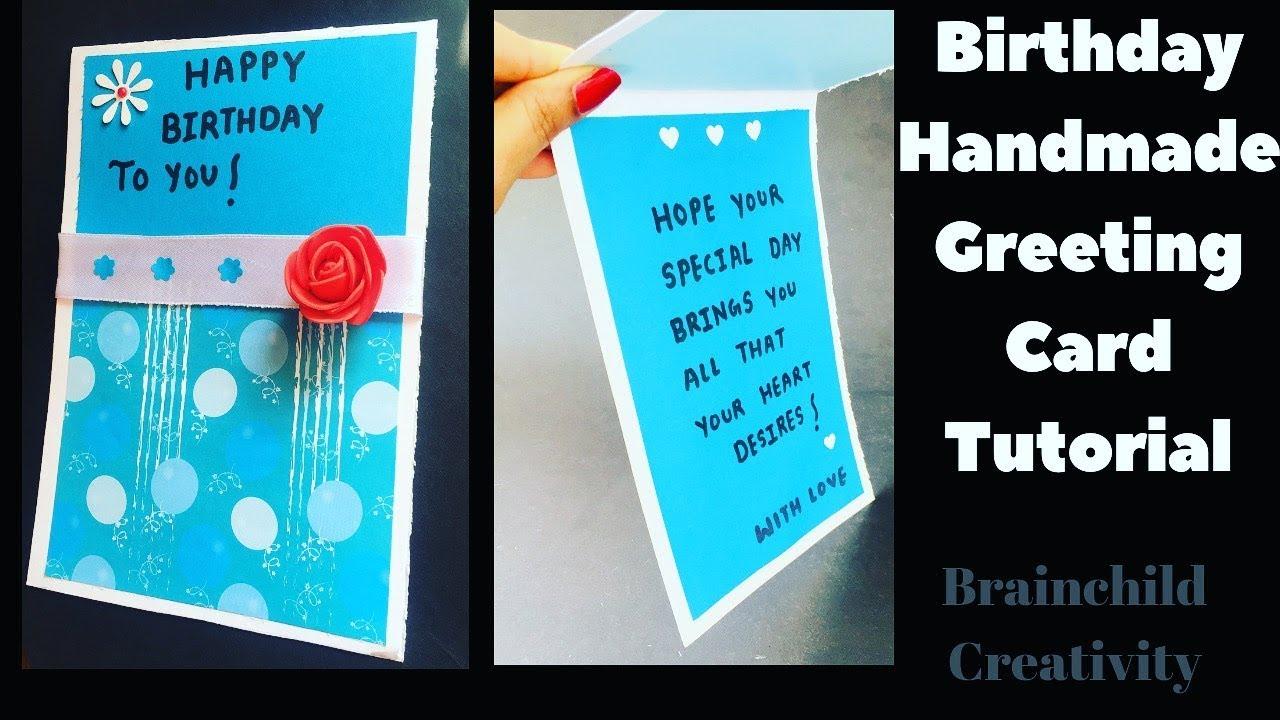 DIY Birthday Greeting Card For Best Friend