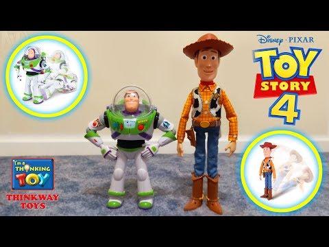 Disney / Pixar Toy Story 4 Interactive Drop Down Sheriff Woody & Buzz Lightyear Review (Thinkway)