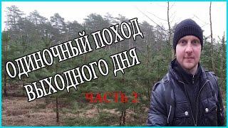 Одиночный поход выходного дня в лес. Часть 2  из 4.