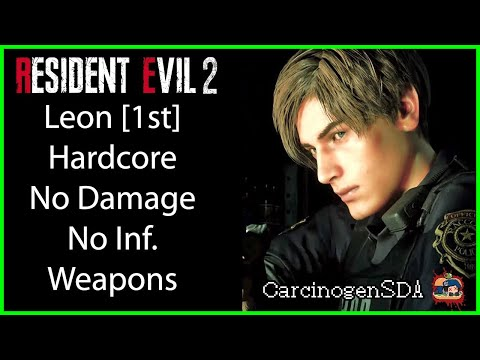 [No Commentary] Resident Evil 2 REmake (PC) No Damage - Leon 1st (Leon A) Hardcore Mode