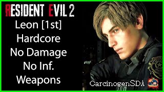 [No Commentary] Resident Evil 2 REmake (PC) No Damage - Leon 1st (Leon A) Hardcore Mode