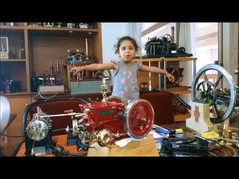One Third Scale New Holland Gas Engine and Granddaughter Still Loves My Engines
