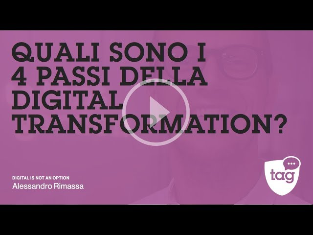 Quali sono i 4 passi della digital transformation? | DIGITAL IS NOT AN OPTION