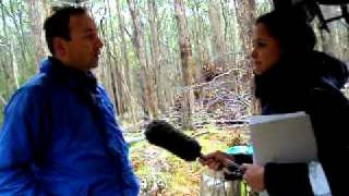 Associate Prof. Stefan Arndt interviewed by 9 News at Wombat Forest Flux Site on 15th of Oct 10