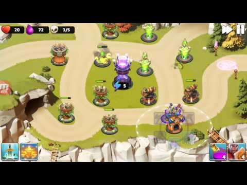 Castle Creeps TD - Chapter 4 Level 16-Cavern Clash 3 Stars