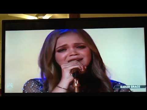 Sarah Grace- Performance - Amazing Grace-The Voice Season 15.  Live Top 10 Performances.