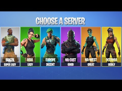 what matchmaking region is easiest fortnite