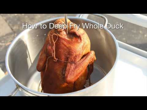 How to Deep Fry Whole Duck with Maple Leaf Farms