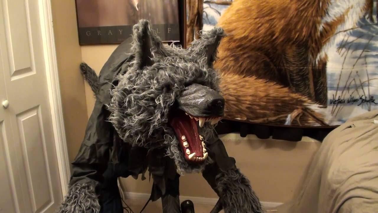 howling werewolf halloween prop using 21 speakers