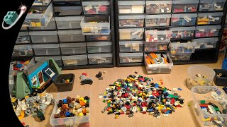 LEGO Storage & Sorting with Akro-mils and subdividers