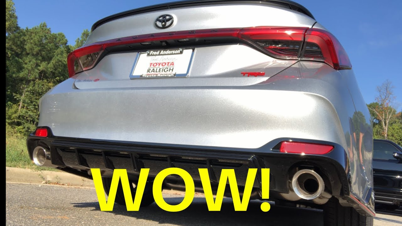 new 2020 avalon trd exhaust test acceleration