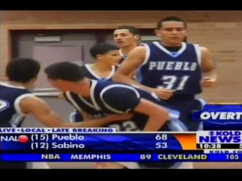 Pueblo's Michael Perez on ch 13 News vs Sabino High School