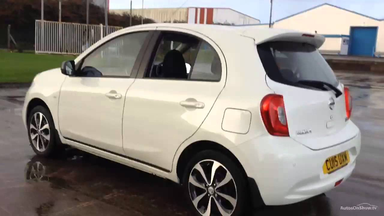 nissan micra tekna dig s white 2015 youtube. Black Bedroom Furniture Sets. Home Design Ideas