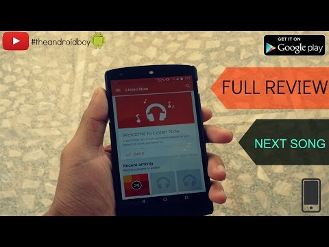 Best music notification app for android 2015(Next song app review)