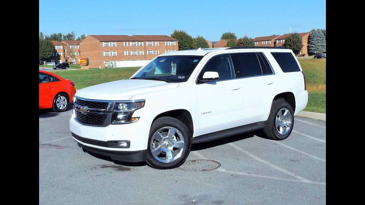 2016 Chevy Tahoe LT 4X4 Start Up Review and Tour
