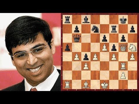 Шахматы. ОЧЕНЬ КРАСИВАЯ АТАКА в исполнении Вишванатана Ананда!