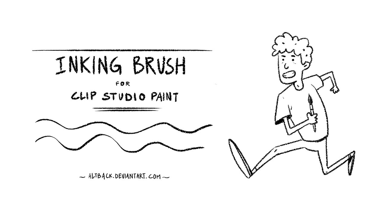 Inking Brush for Clip Studio Paint (textured)