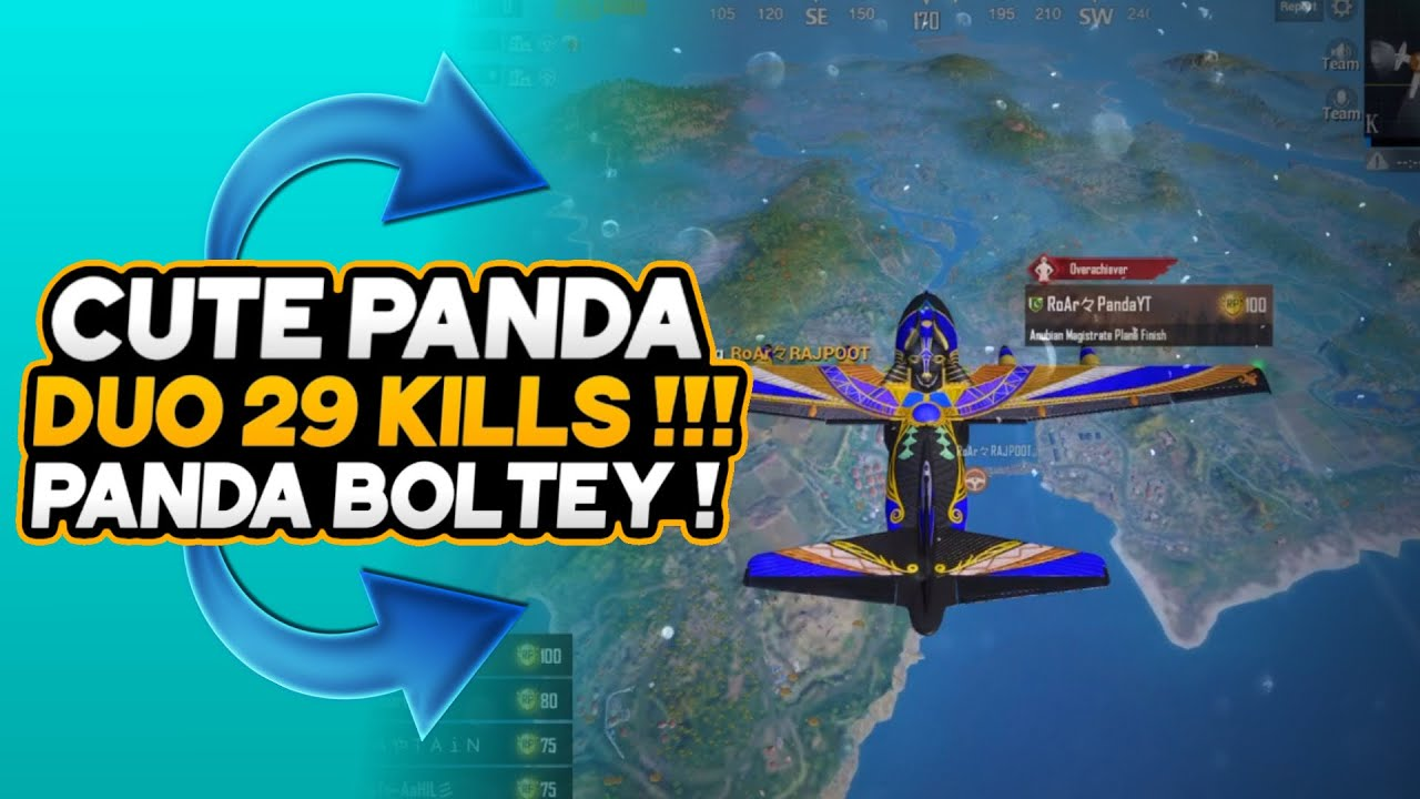 10 Years Old Kid Op Gameplay | duo 29 Kills | Cute Panda | Pubg Mobile