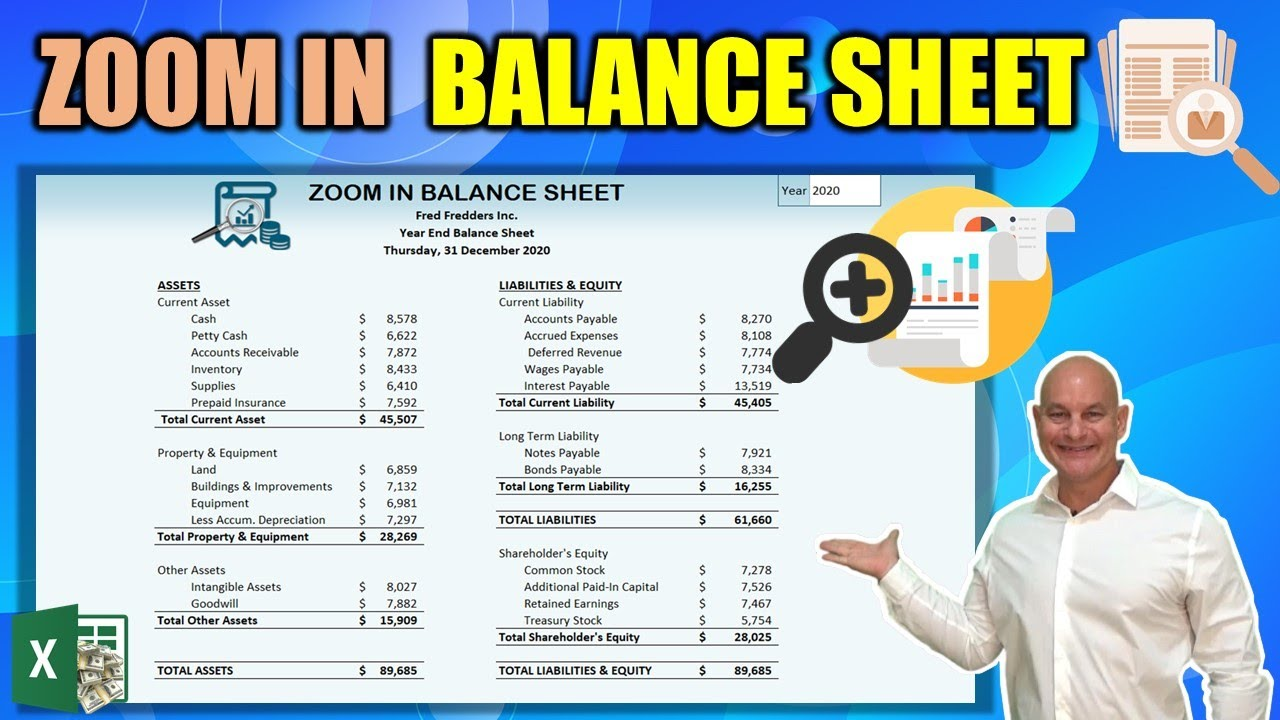 Learn How To Create This Amazing Zoom In Balance Sheet In Excel [Free Download Included]