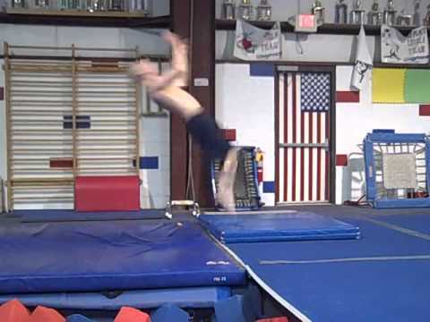 Standing Back Tuck Progressions Off Panel Mat