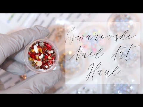Swarovski Crystal Nail Art Haul   Bluestreak Crystals
