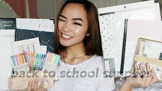 BACK TO SCHOOL SUPPLIES HAUL 2017 + GIVEAWAY☺︎