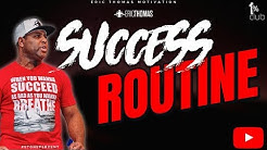 Eric Thomas | Success Routine (Eric Thomas Motivation)