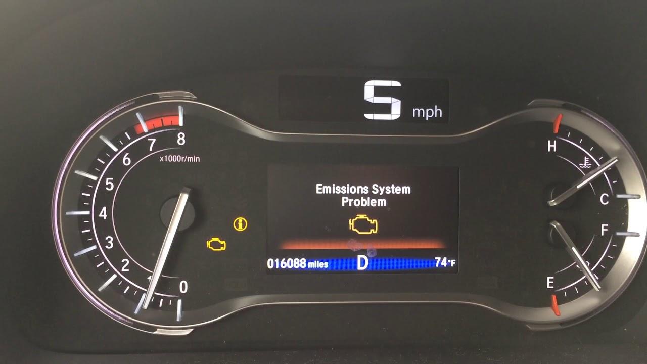 Honda pilot 2016 emissions System problem - YouTube