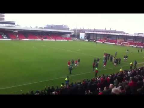 Crewe Lap Of Honour After Securing Playoff Spot