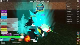 Super saiyan blue vs black goku:Roblox Infinity burst