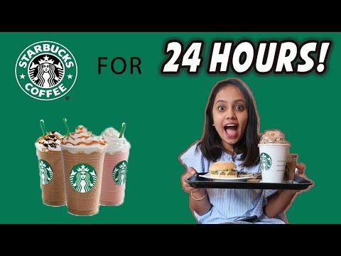 I only ate STARBUCKS food for 24 HOURS 😮🇮🇳| gopsvlogs